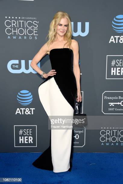 Nicole Kidman attends the 24th annual Critics' Choice Awards at Barker Hangar on January 13 2019 in Santa Monica California