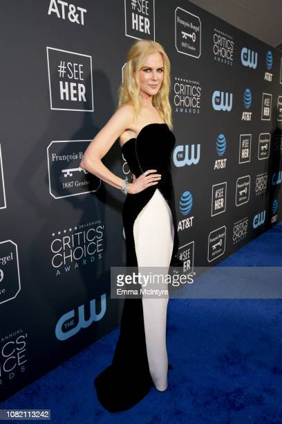 Nicole Kidman attends the 24th annual Critics' Choice Awards at Barker Hangar on January 13, 2019 in Santa Monica, California.