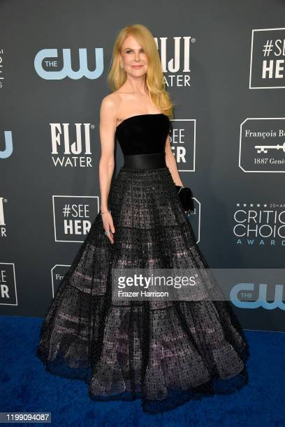 Nicole Kidman attends the 25th Annual Critics' Choice Awards at Barker Hangar on January 12, 2020 in Santa Monica, California.
