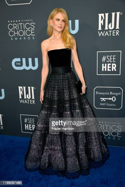 Nicole Kidman attends the 25th Annual Critics' Choice Awards at Barker Hangar on January 12, 2020 in Santa Monica, California.