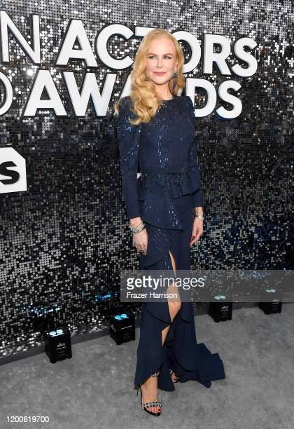 Nicole Kidman attends the 26th Annual Screen ActorsGuild Awards at The Shrine Auditorium on January 19 2020 in Los Angeles California