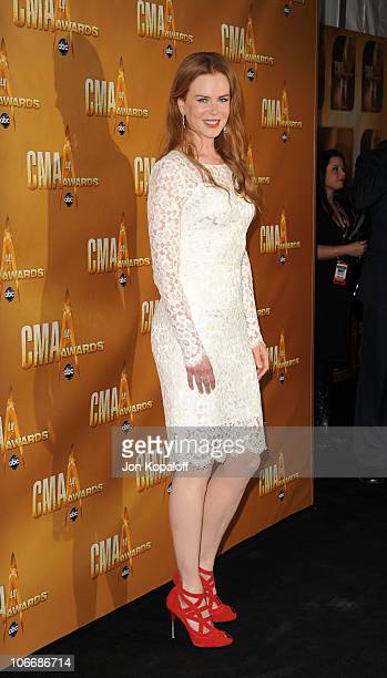 Nicole Kidman attends the 44th Annual CMA Awards at the Bridgestone Arena on November 10 2010 in Nashville Tennessee