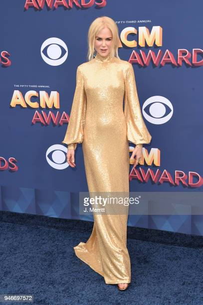 Nicole Kidman attends the 53rd Academy of Country Music Awards at the MGM Grand Garden Arena on April 15 2018 in Las Vegas Nevada