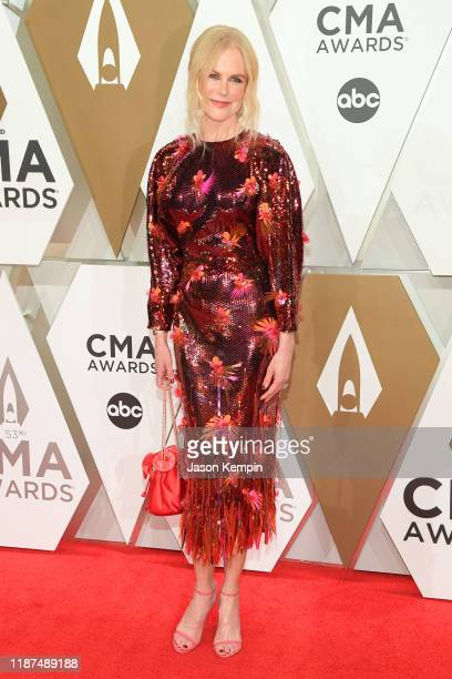 Nicole Kidman attends the 53rd annual CMA Awards at the Music City Center on November 13 2019 in Nashville Tennessee