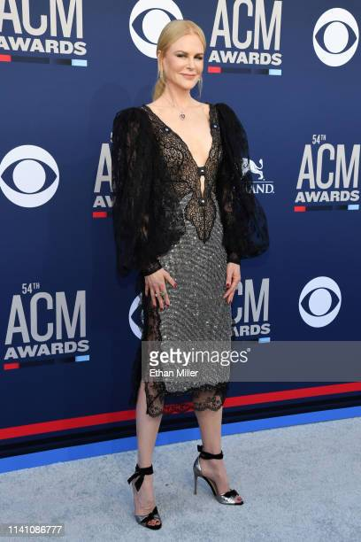 Nicole Kidman attends the 54th Academy Of Country Music Awards at MGM Grand Hotel Casino on April 07 2019 in Las Vegas Nevada