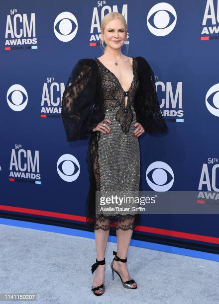 Nicole Kidman attends the 54th Academy of Country Music Awards at MGM Grand Garden Arena on April 07, 2019 in Las Vegas, Nevada.