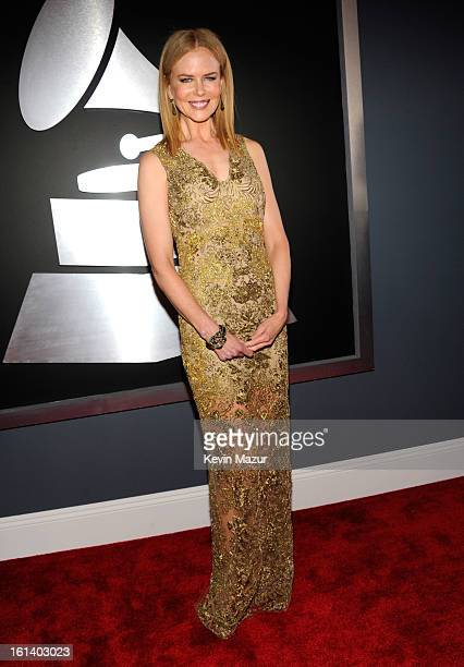 Nicole Kidman attends the 55th Annual GRAMMY Awards at STAPLES Center on February 10 2013 in Los Angeles California