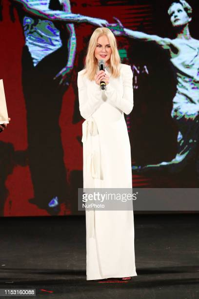 Nicole Kidman attends the 65th Taormina Film Fest 2019 ceremony on July 01 2019 in Taormina Italy