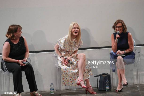 Nicole Kidman attends the 65th Taormina Film Fest masterclass at Teatro Antico on July 01 2019 in Taormina Italy