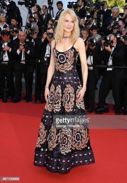 Nicole Kidman attends the 70th Anniversary screening during the 70th annual Cannes Film Festival at Palais des Festivals on May 23 2017 in Cannes...