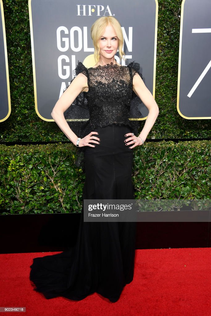 Nicole Kidman attends The 75th Annual Golden Globe Awards at The Beverly Hilton Hotel on January 7, 2018 in Beverly Hills, California.