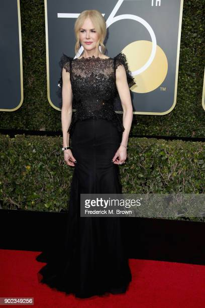 Nicole Kidman attends The 75th Annual Golden Globe Awards at The Beverly Hilton Hotel on January 7 2018 in Beverly Hills California