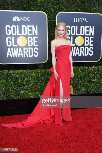 Nicole Kidman attends the 77th Annual Golden Globe Awards at The Beverly Hilton Hotel on January 05, 2020 in Beverly Hills, California.