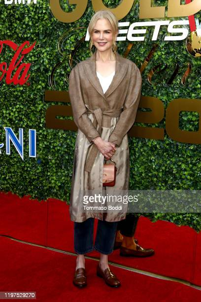 Nicole Kidman attends the 7th Annual Gold Meets Golden at Virginia Robinson Gardens and Estate on January 04, 2020 in Los Angeles, California.