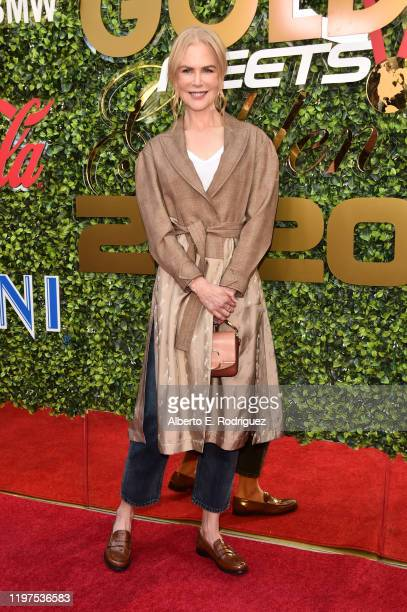 Nicole Kidman attends the 7th Annual Gold Meets Golden at Virginia Robinson Gardens and Estate on January 04 2020 in Los Angeles California