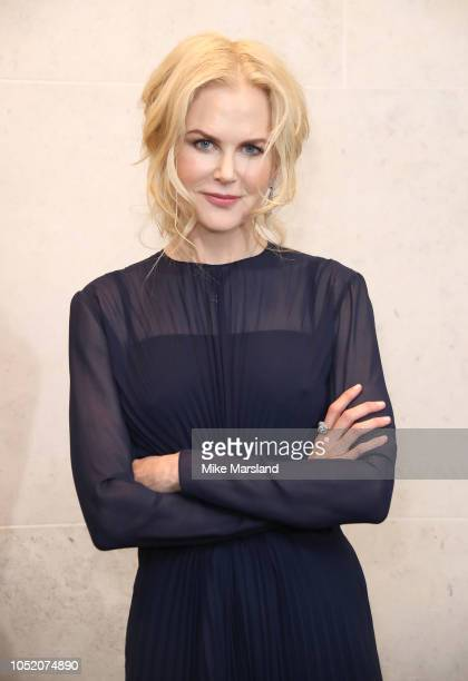 Nicole Kidman attends The Academy of Motion Picture Arts and Sciences new members reception at The National Gallery on October 13 2018 in London...