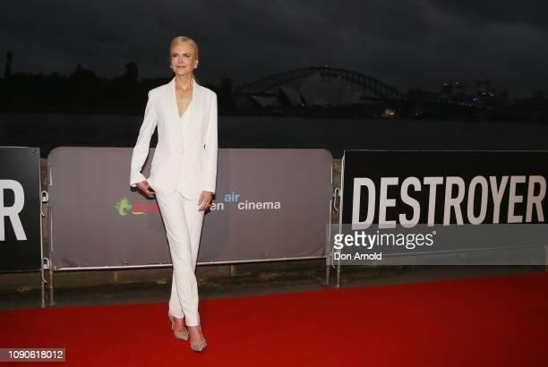 Nicole Kidman attends the Australian premiere of Destroyer on January 28 2019 in Sydney Australia