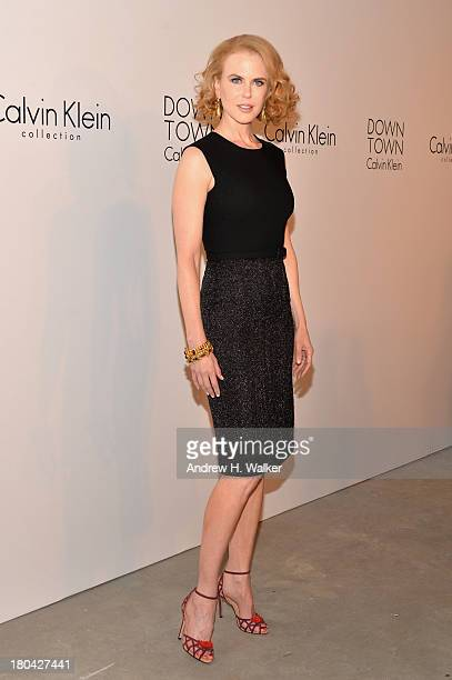 Nicole Kidman attends the Calvin Klein Collection post fashion show event during MercedesBenz Fashion Week Spring 2014 at Spring Studios on September...