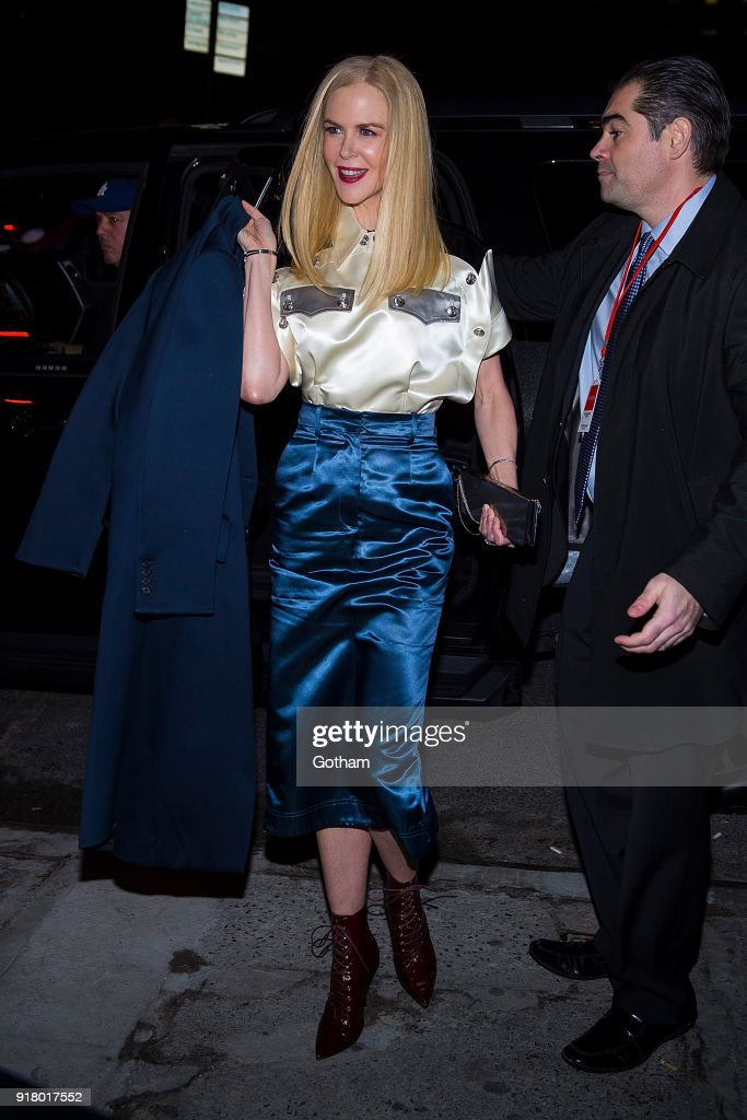 Nicole Kidman attends the Calvin Klein fashion show during New York Fashion Week at the American Stock Exchange Building on February 13, 2018 in New York City.