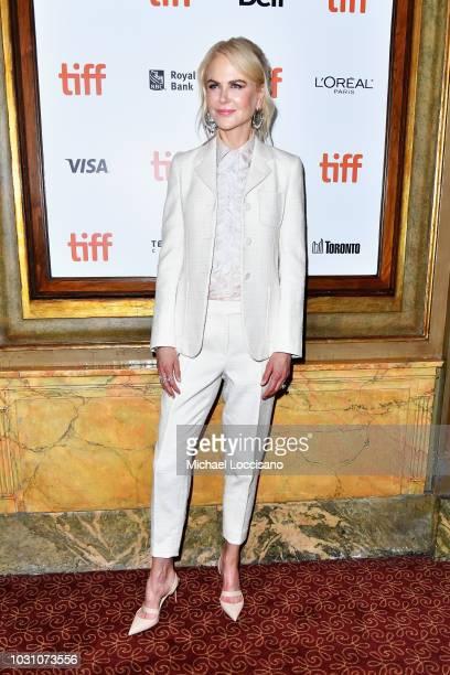 Nicole Kidman attends the Destroyer premiere during 2018 Toronto International Film Festival at Winter Garden Theatre on September 10 2018 in Toronto...