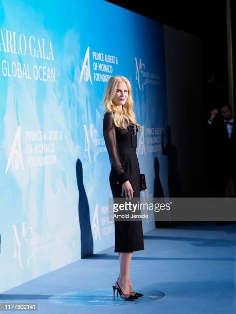Nicole Kidman attends the Gala for the Global Ocean hosted by HSH Prince Albert II of Monaco at Opera of MonteCarlo on September 26 2019 in...