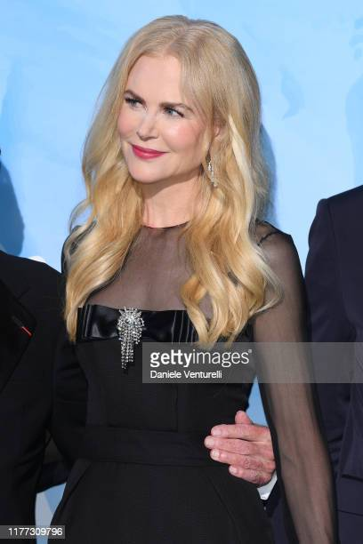 Nicole Kidman attends the Gala for the Global Ocean hosted by H.S.H. Prince Albert II of Monaco at Opera of Monte-Carlo on September 26, 2019 in...