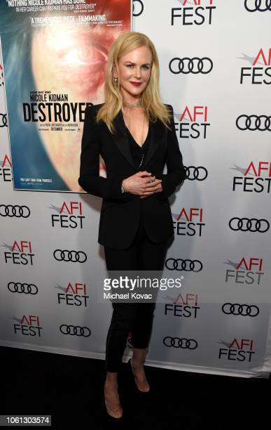 Nicole Kidman attends the gala screening of 'Destroyer' during AFI FEST 2018 at TCL Chinese Theatre on November 5 2018 in Los Angeles California