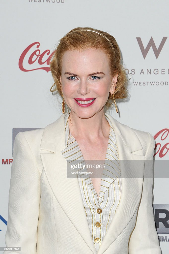 Nicole Kidman attends the 'Gold Meets Golden' event hosted at Equinox on January 12, 2013 in Los Angeles, California.