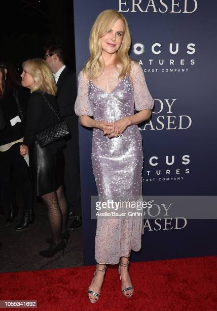 Nicole Kidman attends the premiere of Focus Features' 'Boy Erased' at Directors Guild of America on October 29, 2018 in Los Angeles, California.