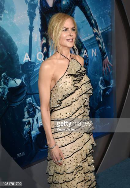 Nicole Kidman attends the premiere of Warner Bros Pictures' Aquaman at TCL Chinese Theatre on December 12 2018 in Hollywood California