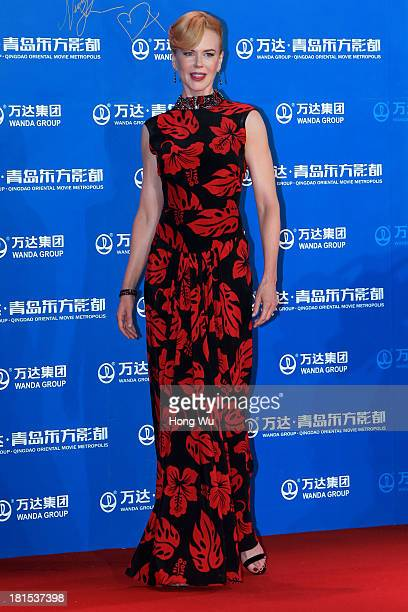 Nicole Kidman attends the red carpet show for the Qingdao Oriental Movie Metropolis on September 22 2013 in Qingdao China