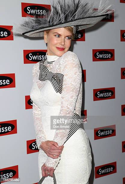 Nicole Kidman attends the Swisse marquee on Derby Day at Flemington Racecourse on November 3 2012 in Melbourne Australia