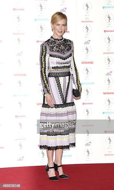 Nicole Kidman attends the Women of the Year lunch and awards at InterContinental Park Lane Hotel on October 19 2015 in London England
