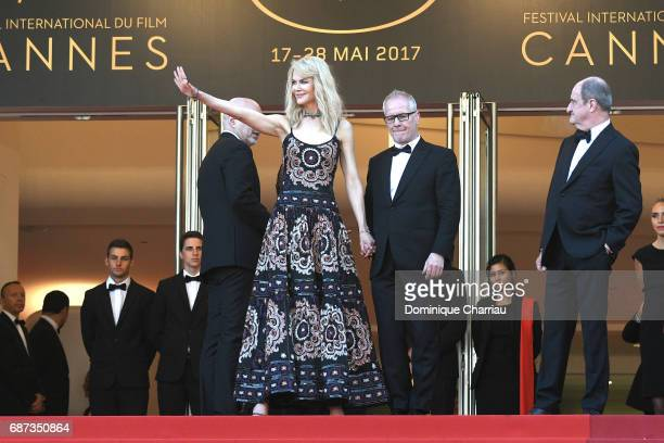 Nicole Kidman Cannes film festival director Thierry Fremaux and Pierre Lescure attend the 70th Anniversary screening during the 70th annual Cannes...