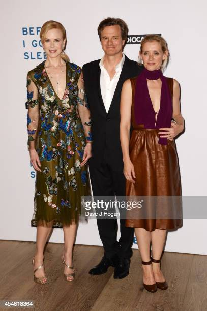 Nicole Kidman Colin Firth and AnneMarie Duff attend the UK gala screening for 'Before I Go To Sleep' at The Ham Yard Hotel Hotel on September 4 2014...
