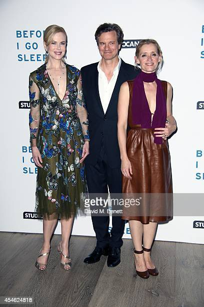 Nicole Kidman Colin Firth AnneMarie Duff attends the UK Gala screening of 'Before I Go To Sleep' at the Ham Yard Hotel on September 4 2014 in London...