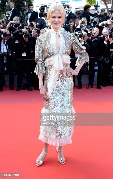 Nicole Kidman departs after the 'How To Talk To Girls At Parties' screening during the 70th annual Cannes Film Festival at Palais des Festivals on...