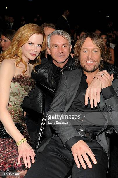 Nicole Kidman director Baz Luhrmann and Keith Urban attend The 53rd Annual GRAMMY Awards held at Staples Center on February 13 2011 in Los Angeles...
