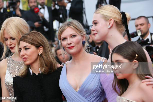 Nicole Kidman director Sofia Coppola Kirsten Dunst Elle Fanning and Addison Riecke attend the 'The Beguiled' screening during the 70th annual Cannes...