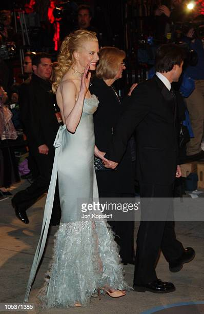 Nicole Kidman during 2004 Vanity Fair Oscar Party at Mortons in Beverly Hills California United States