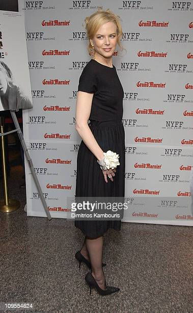 """Nicole Kidman during 41st New York Film Festival Sponsored by Grand Marnier - """"Dogville"""" Premiere - Inside Arrivals and Green Room at Alice Tully..."""