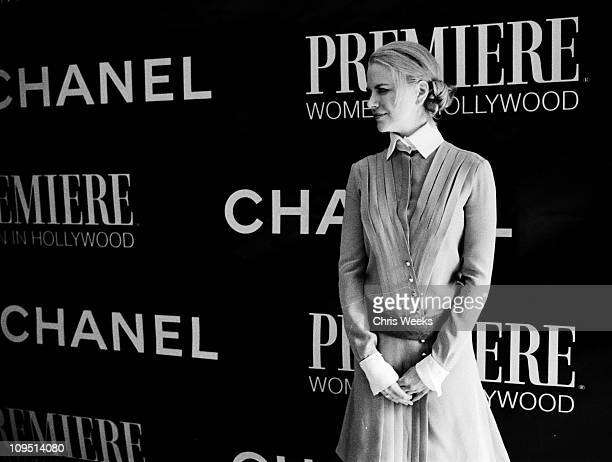 Nicole Kidman during 9th Annual Premiere Magazine Women In Hollywood Luncheon Black White Photography by Chris Weeks at Four Seasons Hotel in Beverly...