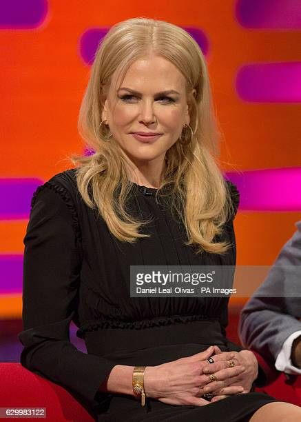 Nicole Kidman during filming of the Graham Norton Show at The London Studios south London to be aired on BBC One on Friday evening
