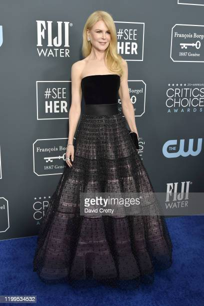 Nicole Kidman during the arrivals for the 25th Annual Critics' Choice Awards at Barker Hangar on January 12, 2020 in Santa Monica, CA.