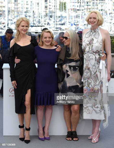 Nicole Kidman Elisabeth Moss director Jane Campion and Gwendoline Christie attend the Top Of The Lake China Girl Photocall during the 70th annual...