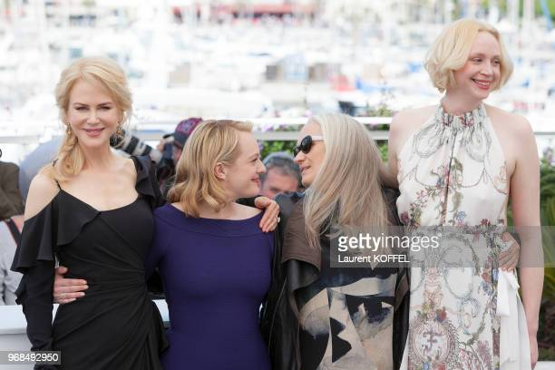 Nicole Kidman Elisabeth Moss Jane Campion attend the 'Top Of The Lake China Girl' photocall during the 70th annual Cannes Film Festival at Palais des...
