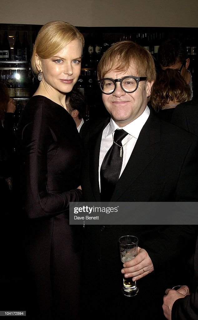 Nicole Kidman & Elton John, 'The Hours' Uk Charity Movie Premiere After Party Held At The Bluebird Restaurant In London.