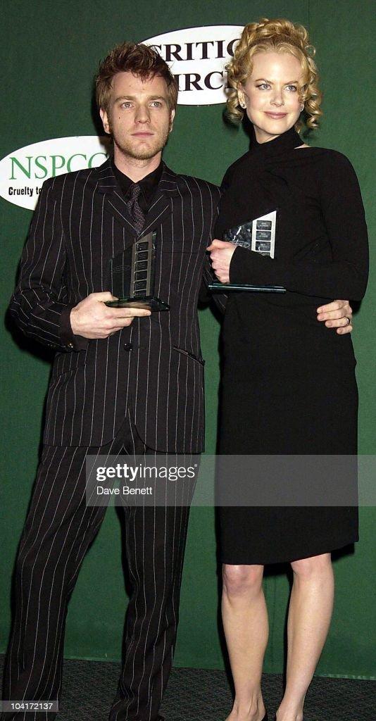 Nicole Kidman & Ewan Mcgregor, London Film Critics Circle Awards 2002, At The Dorchester Hotel, London