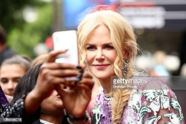 Nicole Kidman greets fans at the 2018 AACTA Awards Presented by Foxtel at The Star on December 5 2018 in Sydney Australia