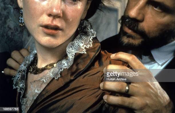 Nicole Kidman is grabbed by John Malkovich in a scene from the film 'The Portrait Of A Lady' 1996